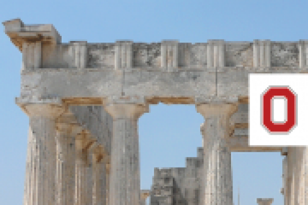 Picture of Parthenon with OSU Classics Logo