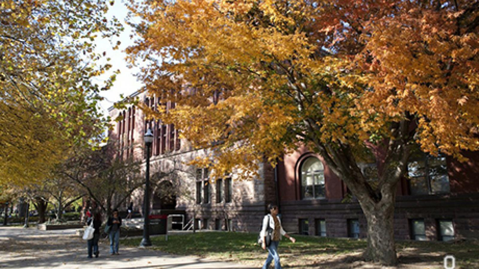 Academic Building on the Ohio State Oval in Autumn